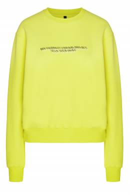 Желтый трикотажный свитшот с логотипами Unravel Project 2852160110