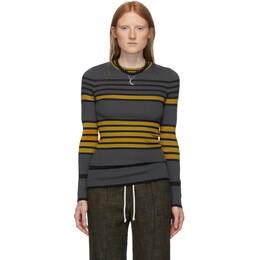 M Missoni Multicolor Oversized Striped Crewneck Sweater 192269F09600404GB