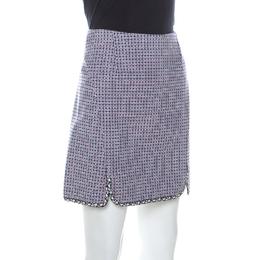 Dior Multicolor Geometric Pattern Stretch Cotton Mini Skirt S