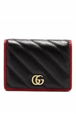 Визитница из кожи GG Marmont Gucci 470160230
