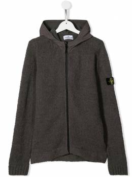 Stone Island Junior вязаная куртка с капюшоном MO7116521D3
