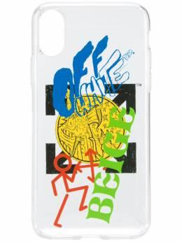 Off-White чехол для iPhone X с логотипом OMPA007F192940349888