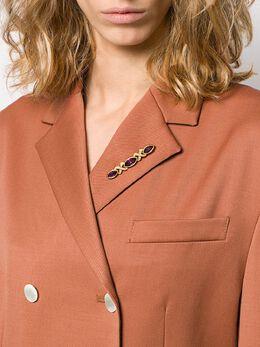 Susan Caplan Vintage декорированная брошь 1970-х годов PN23171