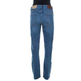Burberry Blue Medium Wash Denim Straight Fit Jeans M 235329