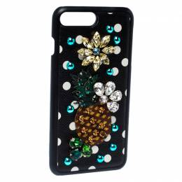Dolce&Gabbana Multicolor Jewel Embellished Leather iPhone Cover 235281