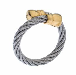 Charriol Celtic Bourse Titanium Cable and Gold Plated Ring Size 54.5 236639