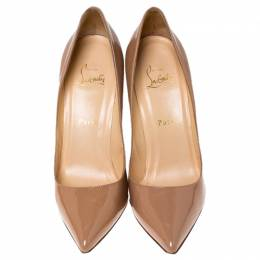 Christian Louboutin Beige Patent Leather Pigalle Pumps Size 39 237974