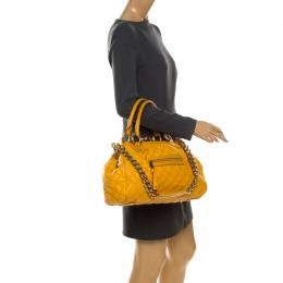 Marc Jacobs Yellow Quilted Leather Stam Shoulder Bag 233283