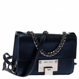 Jimmy Choo Metallic Blue Leather Rebel Crossbody Bag 233416