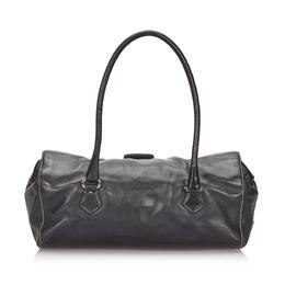 Prada Black Leather Easy Shoulder Bag 234207