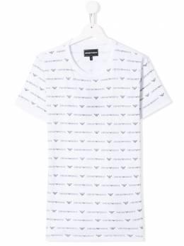 Emporio Armani Kids - футболка с принтом логотипа T699JPZZ933959600000