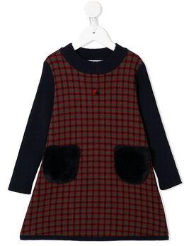 Familiar - клетчатое платье со вставками 59095553553000000000