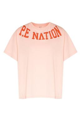 Розовая футболка с оранжевым логотипом Slingshot P.E Nation 2080160601