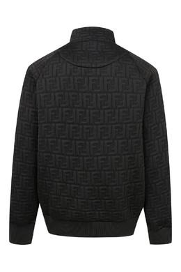 Черная куртка с объемным орнаментом Fendi Kids 690160304