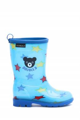 Синие сапоги со звездами и мишкой Miki House 3018160257