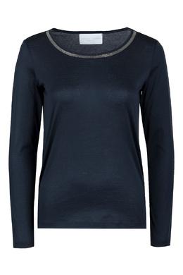 Синяя хлопковая блуза с отделкой Fabiana Filippi 2658160786