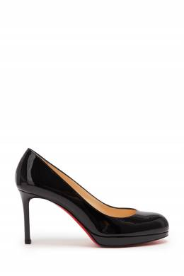 Черные туфли из лакированной кожи Christian Louboutin 106161007
