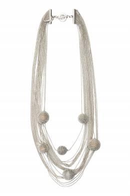 Серебристое многоуровневое колье Fabiana Filippi 2658160899