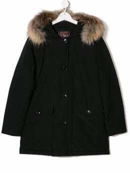 Woolrich Kids - TEEN racoon fur-trimmed parka PS0699CN63BLK9393500