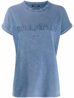 Balmain - футболка из джерси Balmain с логотипом 9565J696956386850000