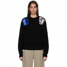 Raf Simons Black Knit Patches Sweater 192287F09601703GB