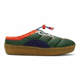 Polo Ralph Lauren Green Polo Sport Myles Puffer Loafers 192213M23100606GB