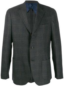 Barba - Jimmy check-print blazer MMY99909569896900000