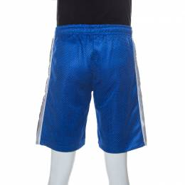 Gucci Blue Perforated Magnetismo Net Shorts M 238337