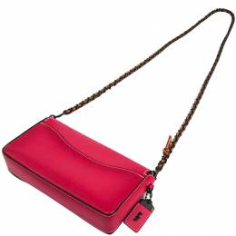 Coach Pink Leather Dinky Crossbody Bag 238339