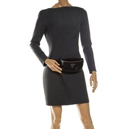 Prada Black Diagramme Leather Belt Bag 237229