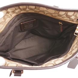 Coach Beige Signature Canvas Tote Bag 238373