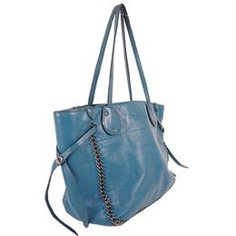 Coach Blue Leather Tote Bag 238376