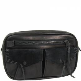 Coach Black Leather And Suede Belt Bag 238345