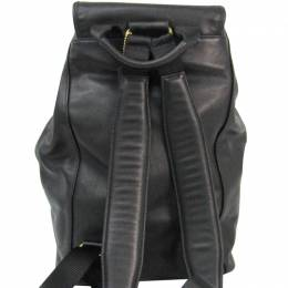 Coach Black Leather Backpack 238346