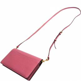 Coach Pink Leather Sequin Embelished Hayden Crossbody Bag 238347