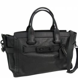 Coach Black Leather Swagger Tote 238341