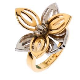 Fendi Two Tone Floral Ring M 236183