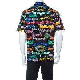 Gucci Multicolor Punk Graphic Print Cotton Short Sleeve Sport Shirt M 238293