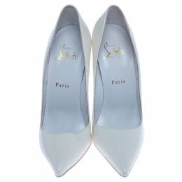 Christian Louboutin White Leather Pointed Toe Pumps Size 39 238288
