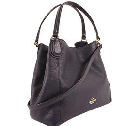 Coach Navy Blue Leather Shoulder Bag 238381