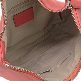Coach Pink Leather Tassel Hobo Bag 238387