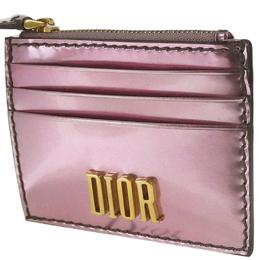 Dior Metallic Pink Leather Card Case 238415