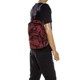Alexander McQueen Multicolor Nylon Camo Dancing Skeleton Sling Backpack 234551