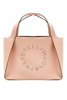 Сумка-тоут Stella Logo розового цвета Stella McCartney 193161173