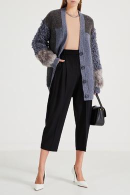 Укороченные брюки с защипами Stella McCartney 193161076