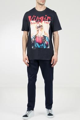 Черная футболка с крупным принтом Frankie Morello 1482161487