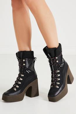 Ботинки на высокой подошве со шнуровкой Stella McCartney 193161158