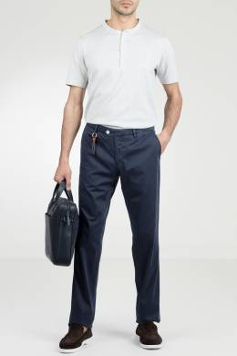 Синие хлопковые брюки Marco Pescarolo 2512161471