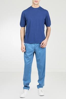 Голубые брюки с эластичным поясом Marco Pescarolo 2512161570