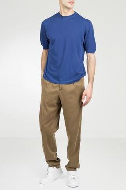 Светло-коричневые брюки с защипами Marco Pescarolo 2512161571